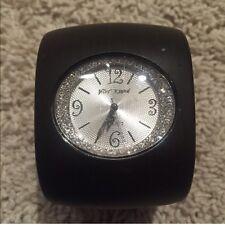 Betsy Johnson brown wrist watch with rhinestone embellishment