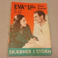 "L'oasis dans la tourmente Hirt 1943 Danish Movie Novel ""EVAs Lille Film Roman"""