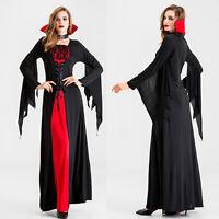 Womens Halloween Vampire Cosplay Demon Fancy Dress Demon Costume Devil Outift