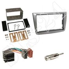 Alfa MiTo Typ 955 Doppel-DIN Radioblende silber+ ISO Verlängerung Kabel+Antenne