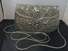 Floral Handmade Shoulder Bag/Clutch( 925 Sterling Silver)