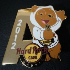 HARD ROCK CAFE MADRID SINGING BEAR 2012 (A) PIN AUTHENTIC RARE LE /250
