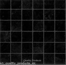 44 x Vinyle Carrelage-Adhésif, Cuisine Salle de bain petit effet Noir BNIB