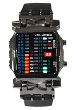 1X(Unisex BINARY LED watch digital day stained sports trend watch gun color 3L7)