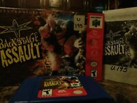WCW Backstage Assault (Nintendo 64, 2000) Box game and booklet (works)