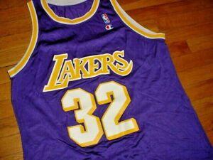 VTG Los Angles Lakers Magic Johnson Jersey By Champion Blank-Back XL/XXL NBA
