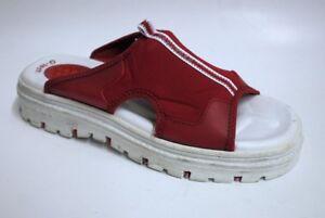 Skechers Women's G-Tech Slide Sandals Red/White US 9 NOB NWD