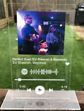 Spotify Personalised Scannable Song Track Plaque  12x19cm With Your Choice Photo
