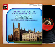 SXLP 30308 Choral Favourites From King's College Cambridge HMV Stereo NM/EX