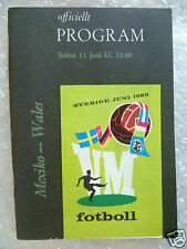 1958 World Cup Finals Programme Mexico v Wales, 11 June (Org*, Exc*)