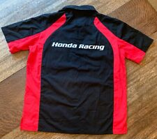 Honda Racing Team Shirt Men's Large Official Black Red New with Tags