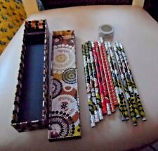 Vera Bradley pencil case , pencil sharpener and 12 pencils