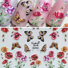 Cute Bee Flowers Water Transfer Stickers  3D Acrylic Engraved Nail Sticker