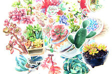 27pc succulent plants Stickers lot Die-cuts for junk bullet journal scrapbook