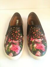 8690fc5e019 HALOGEN Floral Print Leather Slip-on Sneakers Loafers Shoes Women s 6  NORDSTROM
