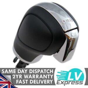 Black Plastic & Chrome DSG Gear Knob Compatible with Golf MK6 MK7 Passat B7