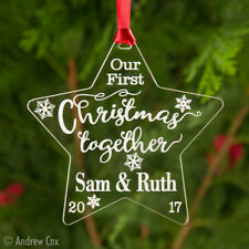 Our/Your First Christmas Together Personalised Acrylic Star Tree Bauble Ornament