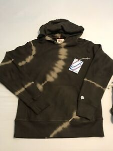 NWOT Todd Snyder x Champion TS Terry Olive Tie Dye Popover sz M