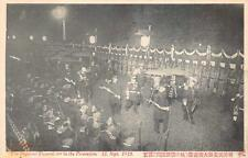 THE IMPERIAL FUNERAL CAR PROCESSION JAPAN MILITARY MARCHING POSTCARD (1912)!