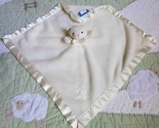 Blankets and Beyond Off White Ivory Fleece Kitty Cat Baby Girl Security Blanket