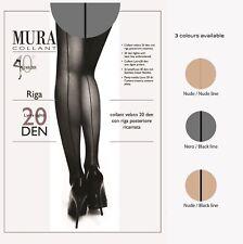 Mura Sexy Italian Pantyhose Tights Sheer Stockings With Fashion Back Line