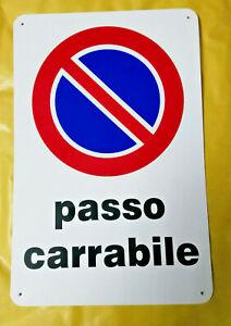 Placa Señal Signo de Plástico X Exterior Paso Entrada de Auto 30x20 CM