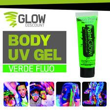 VERNICE UV CORPO VISO VERDE paint uv fluo fluorescente fosforescente dj   30246