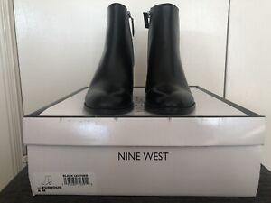 Nine West Size 6 Black Ankle Boots BNIB