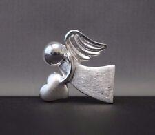 Schutzengel Engel Anhänger mit Herz - 925 Sterling Silber - Kinder Damen Schmuck
