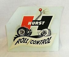"Rare! 1960`S Hurst ""Roll Control"" Shifter Unused Original Vintage Water Decal!"