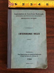1966 Association of American Railroads Mechanical Division Interchange Rules