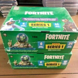 SEALED RARE LOT 2x 2019 Panini Fortnite SERIES 1 24 PACK Hobby BOX Black Knight?