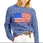 POLO RALPH LAUREN USA Flag Patriotic Nautical Speckled Heavy Sweater NEW M