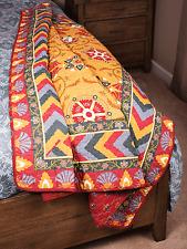 Quilt Throw Farrah Global Motif Foulard Cotton Lap Blanket
