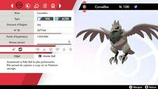 Pokemon CORVAILLUS shiny 6IV + masterball - Battle Ready - Pokémon Epée/Bouclier