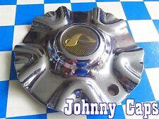 ALBA Wheels [73] Chrome Center Caps # N/A Custom Wheel USED Center Cap (1)