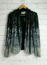 LEILA SHAMS Celebrity Designer Farfetch Saks Ombre Sequin Jacket Small NWOT $890