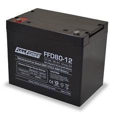 BAFRFFD80-12 Fullriver Full Force AGM Deep Cycle Batteries 80AH/12V Quantity 1