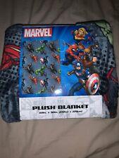 """Disney Marvel Avengers Plush Blanket 60 X 90"""" New Iron Man Hulk Captain America"""