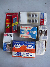 Large Lot of Vintage Unused Flash Bulbs Most New in PAckages M3B 5B MORE