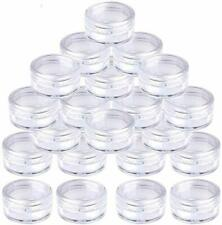Small Empty Clear Plastic Sample Travel Jar Containers Round Cosmetic Makeup Pot