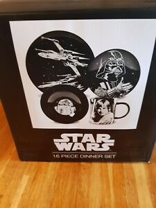 starwars 16 piece dinner plate set