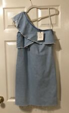 River Island One Shoulder Denim Collection  Dress Size 6 BNWT New