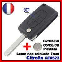 Coque Clé Plip Pour CITROEN Berlingo Jumper Picasso Bouton Phare CE0523 SR