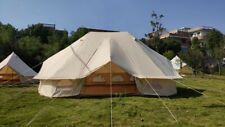 US Shipped Large Waterproof Cotton Canvas Twin Emperor Bell Tent Glamping Tent