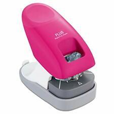 Plus Paper Clinch Desktop Staple Free Stapler Pink