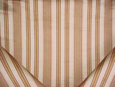 9Y Lee Jofa 2002113 Margaux Stripe Camel / Petal Silk Linen Upholstery Fabric