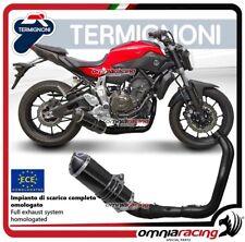 Termignoni RELEVANCE escape completo carbono racing Yamaha MT07/XSR700 14>