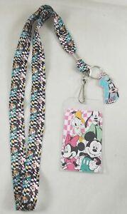 New Loungefly Disney Goofy & Friends Mickey Minnie Mouse Donald Duck ID Lanyard
