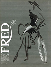 PUBLICITE ADVERTISING 074  1991  FRED  joaillier  collection FORCE 10